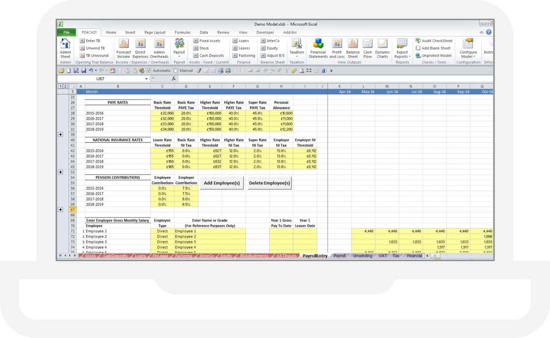 FD4Cast Excel Forecasting